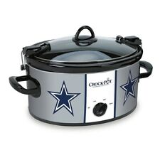 Slow Cooker Dallas Cowboys 6 Quart Durable Stoneware Small Kitchen Appliances US