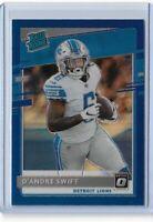 2020 Donruss football optic preview blue parallel D'Andre Swift 027/125 Detroit