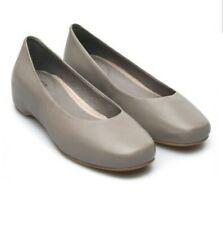 CAMPER SERENA FLATS 37 6.5 Gray Leather Ballerina Slip On Minimalist Shoes Wedge