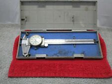 "Vintage Mitutoyo Dial Caliper 6"" with case #505-637-50"