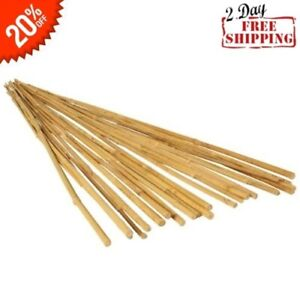 25 Bamboo Trellis Stakes 3' for Garden Plants Support Tomatoes Peas Plant Sticks
