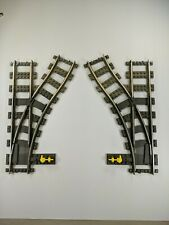Lego Train Track 9V Switching LEFT & RIGHT Point Electric 4531 4512 metal rails