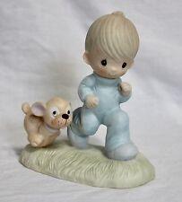 Precious Moments GOD'S SPEED E3112 Figurine Detailed Spiritual 1979 Decorative