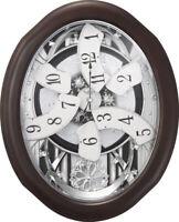 Rhythm Clocks Anthology Espresso Magic Motion Clock (4MH869WU06)