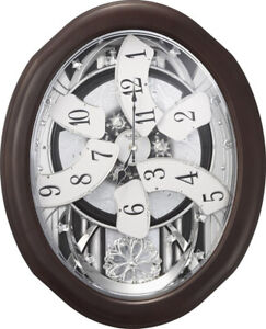 Rhythm Clocks Anthology Espresso Magic Motion Clock (4MH869WU06)