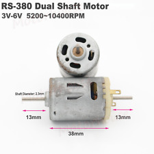 Dual Double Shaft DC Electric Small RS-380 Motor DC 3V~6V 10400RPM DIY Model Toy