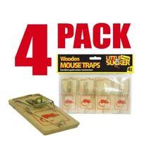 Wooden Mousetraps Reusable Mouse Trap Bait | Pack of 4