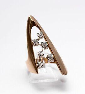 Brillant 750er Gold Damen Ring Brillantring Luxus Designer Schmuck Diamanten