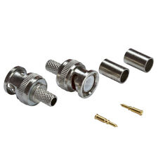 3-piece BNC Male Crimp Connector 2 Pack Secure Strong Connectivity Satisfaction