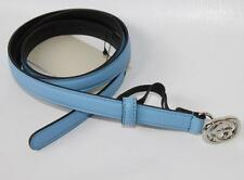 AUTH Gucci Women Skinny Leather Belt 34/85