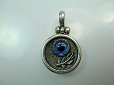 MAPAMENOS NATEPAS Greek Eye Sterling Silver Pendant VERY RARE Vintage GREECE
