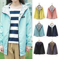 Women Warm Hooded Long Coat Jacket Trench Windbreaker Parka Outwear Fashion New