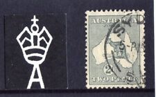 1915 2d Grey 2nd Watermark Kangaroo Stamp Good To Fine Used, Centred Left