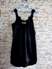 Monsoon Fusion Black Puffball Bubble Hem Dress Size UK 14