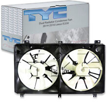 TYC Dual Radiator and Condenser Fan Assembly for 2014-2016 Lexus IS350  gs
