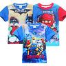 New Boys Lego batman Ninja Ninjago Cartoon T-shirt Kids Tops Tees 3.4.5.6yrs.