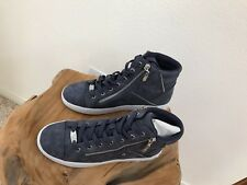 G by Guess  Blue Jean Suede High Top Sneakers Tennis Shoes Sz 8M NWT