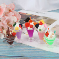 Dollhouse Miniature Ice Cream Cup Model Pretend Play Mini Food Play House To.yu