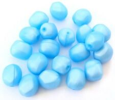 20 European Acrylic Icy Blue Nugget Beads-Jewelry Supplies