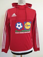 L433 MENS BNWT ADIDAS RED STRIPES FOOTBALL PULLOVER TRACKSUIT HOODIE UK S EU 46
