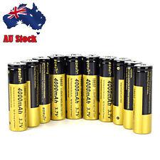AU Stock 10 pcs Rechargeable 18650 3.7V 4000mAh Battery for Flashlight Headlamp