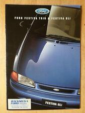 FORD FESTIVA TRIO & GLI orig 1996 sales + specs brochures - Australia