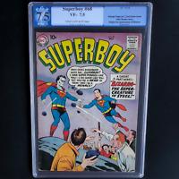 SUPERBOY #68 (DC 1958) 💥 7.5 C-OW PGX 💥 ORIGIN & 1ST APP OF BIZARRO!
