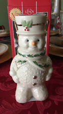 Lenox Holiday Happy Holly Days Snowman Lantern Votive Candle Holder 863047