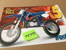 Polini X5 60 cc publicité prospectus catalogue brochure en italien et anglais