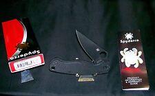 "Spyderco Paramilitary 2 Knife USA ""C81GPBK2"" Black 4-3/4"" Original Packaging"