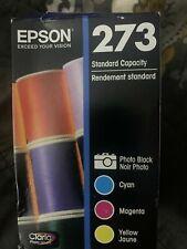 GENUINE EPSON 273 INK 4 COLOR, STANDARD CAPACITY, Cyan Magenta Black Yellow