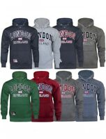 16sixty Mens London England Union Jack Embroidered Casual Hoodie Pullover Jumper