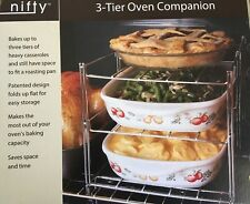"""Nifty Home Products Oven Companion 3 Tier Oven Rack Baking 13.5x11x10.5"""" NEW/BOX"""