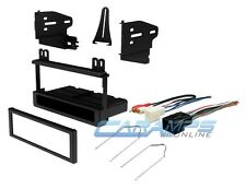 CAR STEREO DASH INSTALLATION MOUNTING KIT W WIRING HARNESS & RADIO REMOVAL TOOL