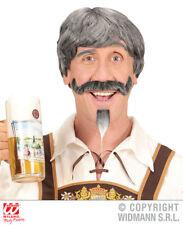 Gris Bavarois Perruque Moustache et barbiche Oktoberfest accessoires costume robe fantaisie
