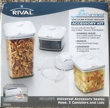 New listing Rival Seal A Meal Vacuum Only 3 Canister Containers 2¹/² 1¹/² & ³/� Quart w/Lids