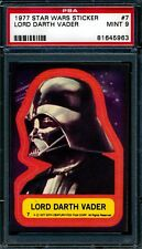 1977 Topps Star Wars Stickers — Lord Darth Vader #7  — PSA 9