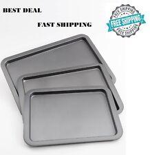 Wilton Cookie Sheet Pan Set of 3 Non Stick Bakeware Heavy Duty Oven Dishwasher