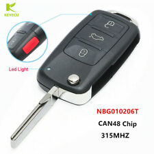 Replacement Remote Flip Key for Volkswagen 2011-2017 NBG010206T-Models with Prox