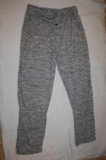 Mens Lounge Pants BLACK WHITE GRAY MARLED Lt Weight BUTTON FLY Pockets L 36-38