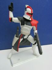 star wars RED ARC CLONE TROOPER ACTION FIGURE clone wars animated 2005 #613