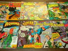 12 DC COMICS lot 1966-1982 BLACKHAWK SUPERBOY AQUAMAN TEEN TITAN BATMAN SUPERMAN