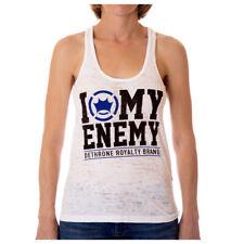 Dethrone Women's Love My Enemy Tank Top - White