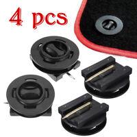4x Clips Fixation Pinces Tapis Sol Noir Plastique pour Citroen Peugeot Renault
