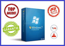 Microsoft Windows 7 Professionnel, 32/64bit ✔ MS ® Windows ✔ Pro version complète