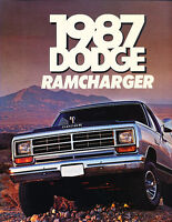 1987 Dodge Ramcharger Deluxe Sales Brochure Catalog J0615