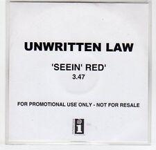 (EF365) Unwritten Law, Seein Red - DJ CD