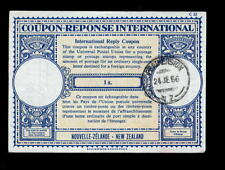 New Zealand 1966 Reply Coupon 1/-.Featherston