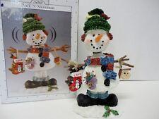 "New Scott's Rock-N-Snowman Figurine Holiday Christmas 7.5"" Wobble Head Decor Nib"
