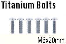 x6 New Titanium Bolt M6x20mm M6 20L Tapered Torx T30 Ti Screw Cycle Bicycle Bike